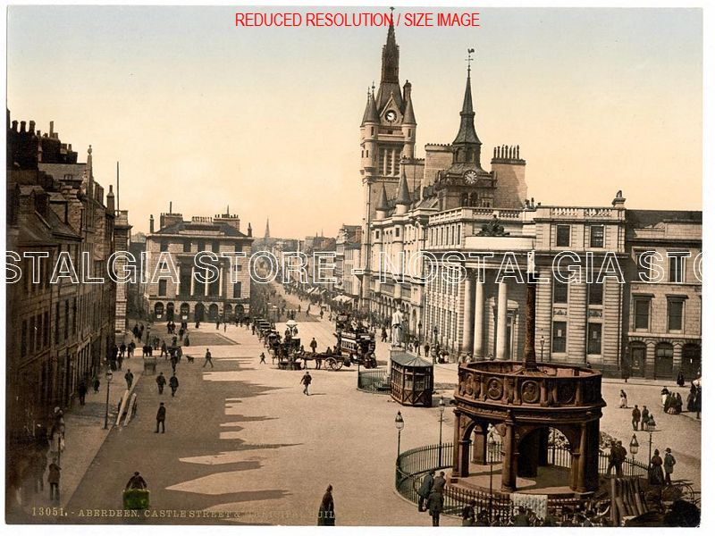 Aberdeen Scotland Victorian Colour Images Nostalgia
